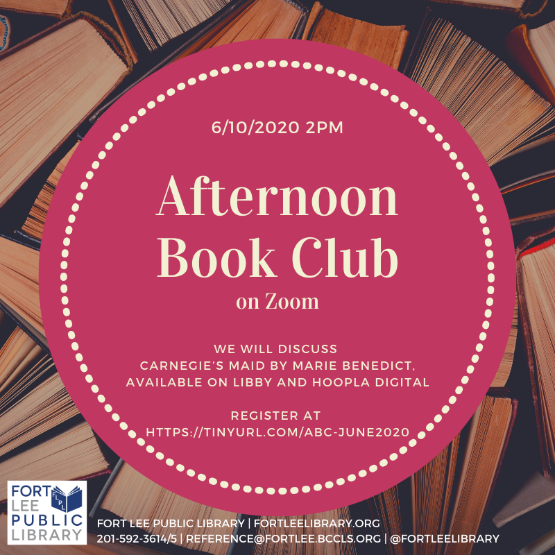 Afternoon Book Club: Register Now!