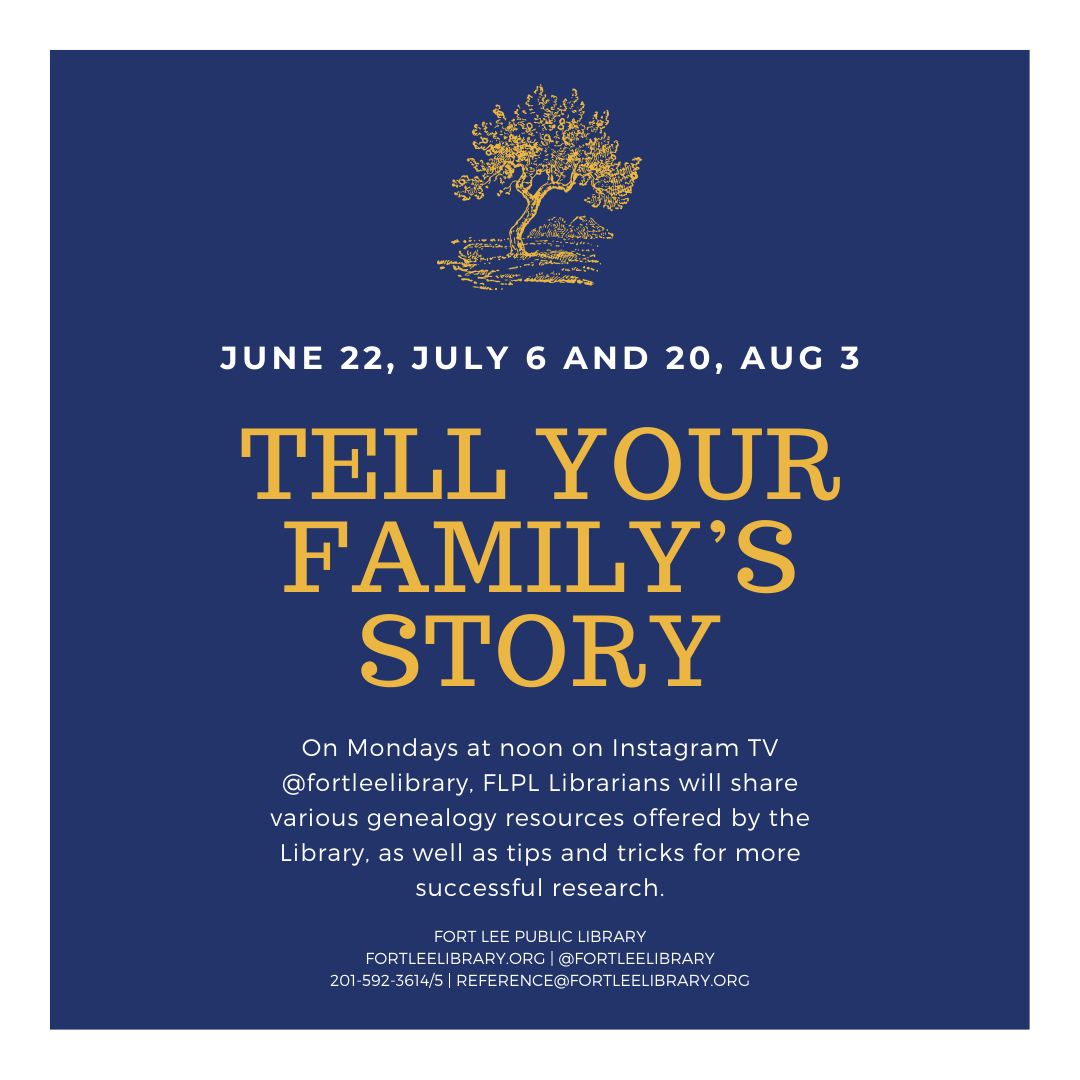 Tell Your Family's Story