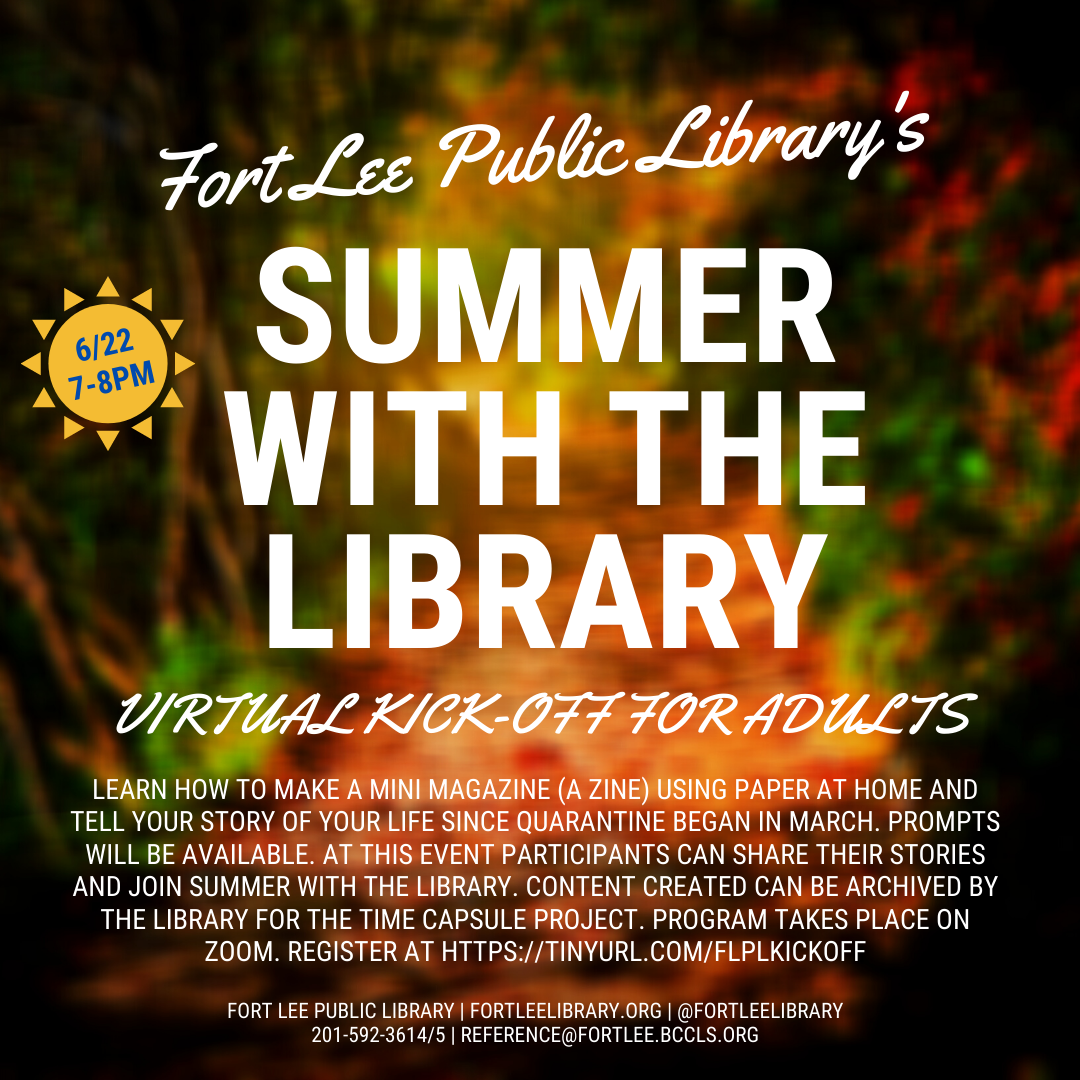 Summer With the Library: Adult Kick Off