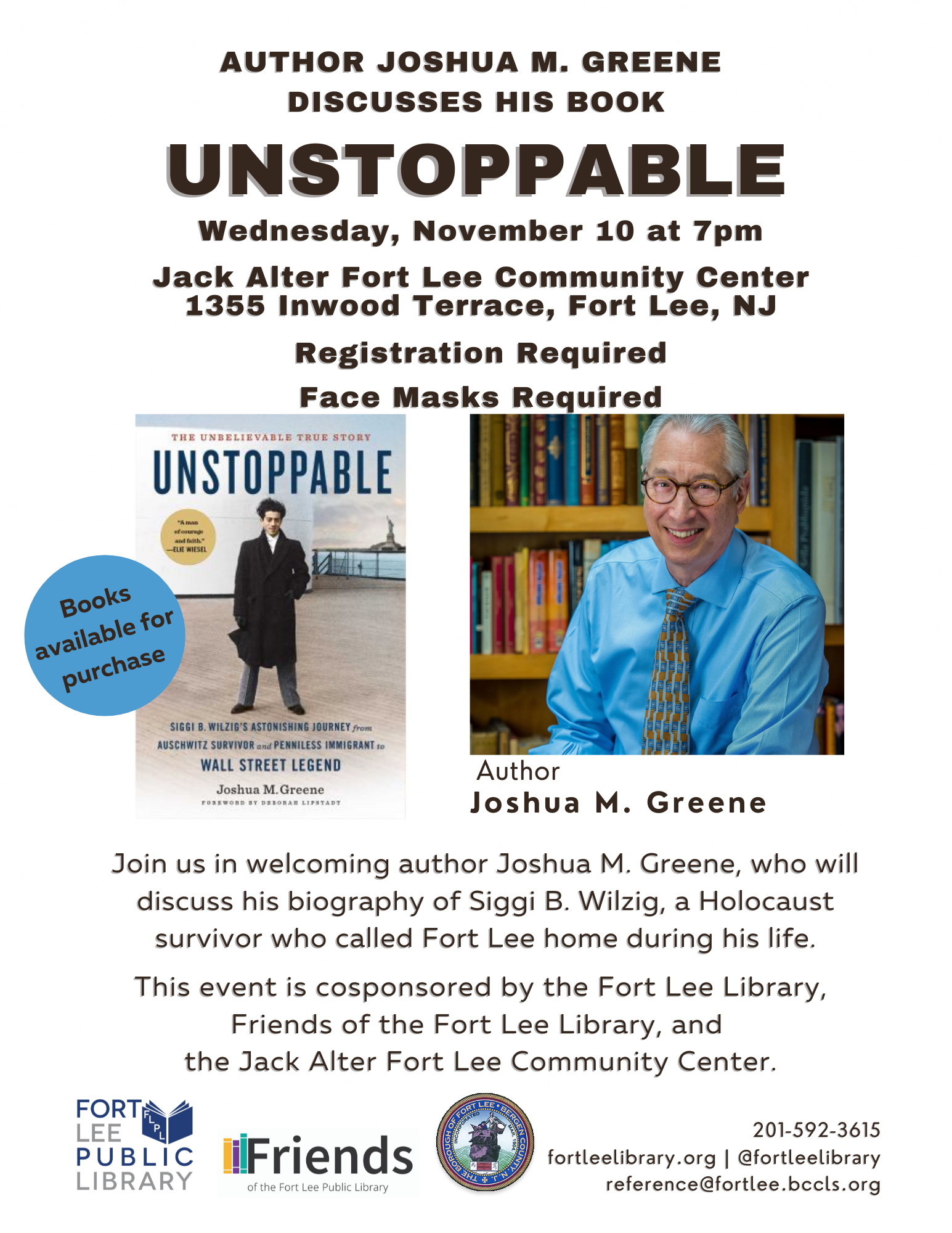 Author Joshua M. Greene Discusses His Book Unstoppable
