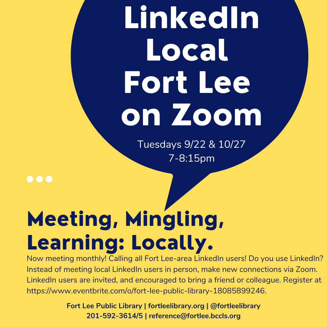 LinkedIn Local Fort Lee on Zoom