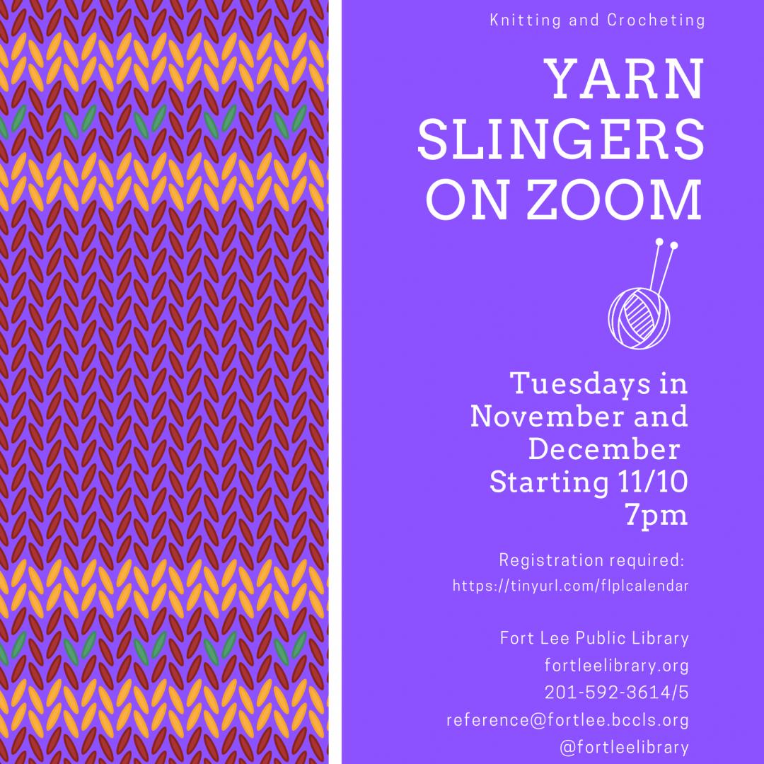 Yarn Slingers on Zoom