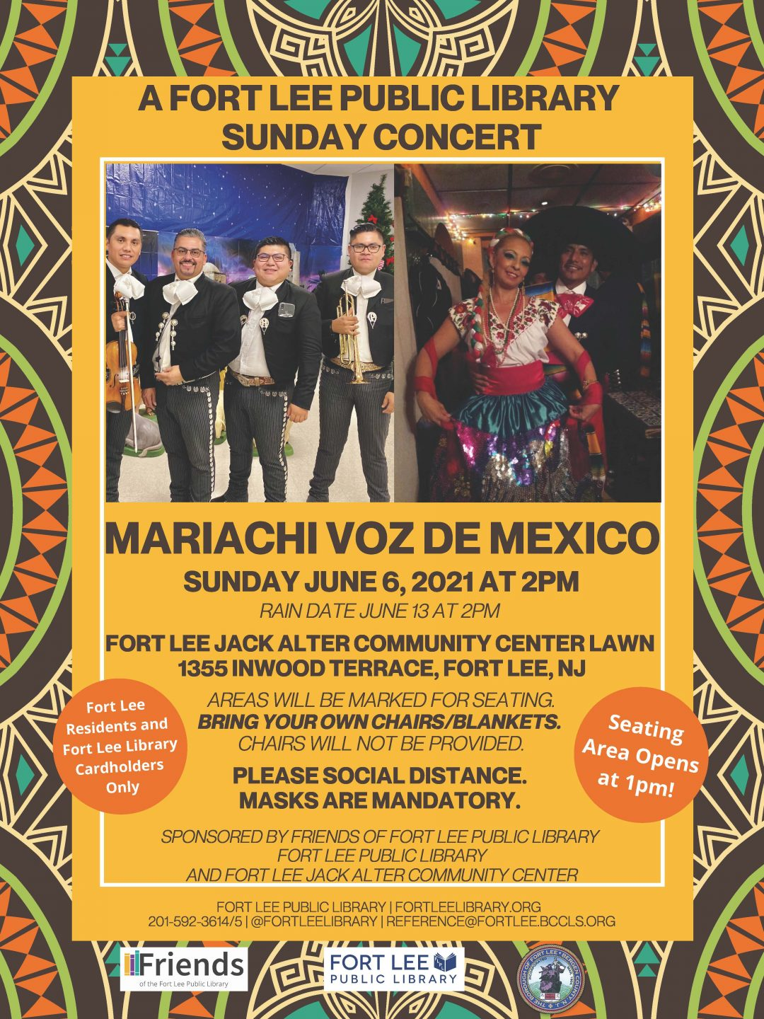 SUNDAY MARIACHI CONCERT AT THE COMMUNITY CENTER